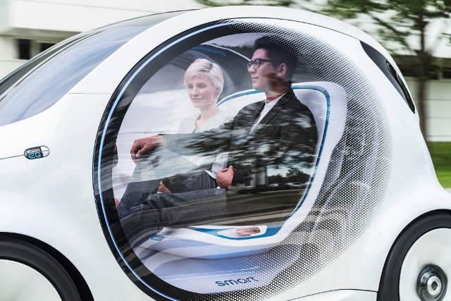 smart EQ Daimler Passagiere