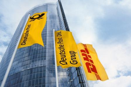 Flaggen der Deutschen Post DHL Group