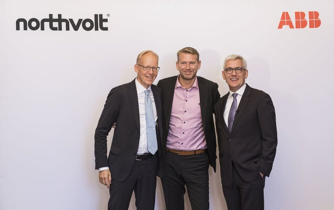 ABB Northvolt Batteriefabrik-Partnerschaft